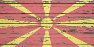 Macedonian flag Stock Images