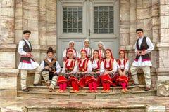 Macedonian  folk dancers Royalty Free Stock Photos