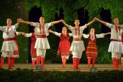 Macedonian folkloric dance group Royalty Free Stock Photo