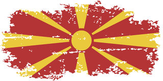 Macedonian grunge flag. Vector illustration. Stock Photography