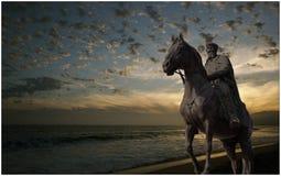 Macedonian hjälte på sjön arkivbild
