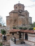 Jovan Kaneo Church on the shore of Lake Ohrid stock images