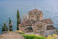 Jovan Kaneo Church on the shore of Lake Ohrid royalty free stock images