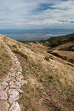 Macedonian mountains. A view from of the Lake Ohrid from the Macedonian mountains Royalty Free Stock Images