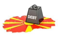 Macedonian national debt or budget deficit, financial crisis con. Cept, 3D Royalty Free Stock Images