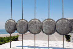 Macedonian shields Royalty Free Stock Photo