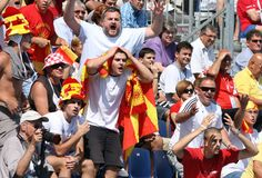 Macedonian Supporters Protesting Stock Image