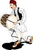 Macedonian traditional drummer Stock Photography