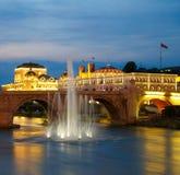 Macedonians huvudstad Skopje royaltyfri bild
