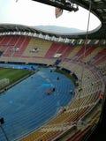 macedonija gradski stadion Superschalenmach 2017 Stockfotografie