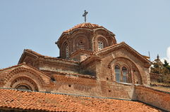 Macedonische Kerkarchitectuur Ohrid Stock Foto's