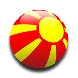 Macedonische vlag stock illustratie