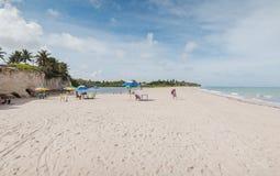 Maceià ³ av den Tabatinga stranden, Conde PB arkivfoton