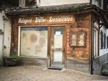 Macellaio chiuso all'angolo Fotografia Stock Libera da Diritti