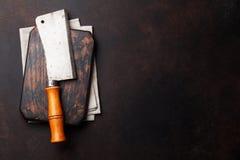 macellaio Coltello d'annata della carne immagine stock