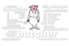 Macellaio Pig Immagini Stock Libere da Diritti