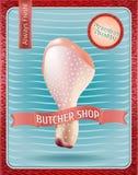 Macellaio Shop Poster Illustrazione di vettore Illustrazione Vettoriale
