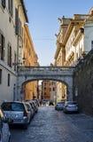 Macelli-Straße Rom Stockfotografie