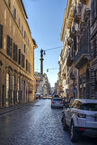 Macelli street Rome Royalty Free Stock Image
