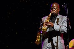 Maceo Parker in Concert at Triple Door Stock Photo