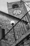 Macerata Feltria stary zegar obraz stock
