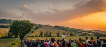 Macerata - Loreto Pilgrimage royalty free stock images