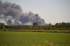 maceri lodigiana πυρκαγιάς εργοστασί Στοκ εικόνες με δικαίωμα ελεύθερης χρήσης