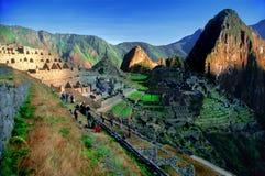mach Peru pichu przeglądu zdjęcia stock