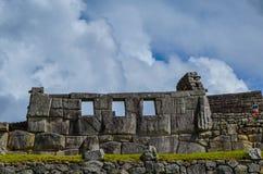 MACH PICCHU, CUSCO region, PERU CZERWIEC 4, 2013: Szczegóły obszar zamieszkały 15 wiek inka cytadela Mach Picchu Fotografia Royalty Free