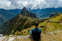 Mach Picchu, Cuzco, Peru, Myśleć wokoło zdjęcie stock