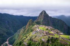 Mach Picchu Przegrany Incan miasto i UNESCO światowe dziedzictwo Siedzi Zdjęcia Royalty Free