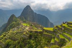 Mach Picchu w wiośnie, Peru obraz stock