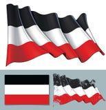 Machać Chorągwiany Niemiecki imperium ilustracja wektor