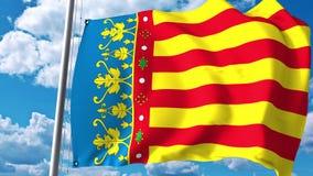 Machać chorągwiany Valencian społeczność, region autonomiczny w Hiszpania świadczenia 3 d ilustracja wektor