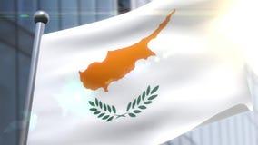 Machać flagę Cypr animacja zbiory