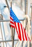 Machać flaga Stany Zjednoczone Zdjęcia Royalty Free