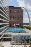 Machać flaga Stany Zjednoczone i stan Missouri w d fotografia stock