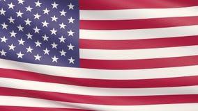 Machać gwiazdową i pasiastą flagę amerykańską, Stany Zjednoczone Ameryka ilustracja wektor