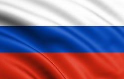 Machać kolorową flagę państowową Russia 3d ilustracja dla twój projekta royalty ilustracja