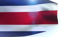 Machać kolorową flaga państowowa costa rica dmuchanie w wiatrze royalty ilustracja