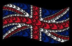 Machać Wielkiego Brytania flaga wzór jacht rzeczy ilustracji