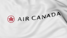 Machać flaga Air Canada redakcyjny 3D rendering ilustracji