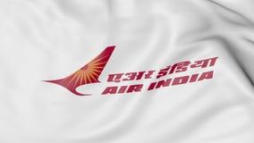 Machać flaga Air India redakcyjny 3D rendering ilustracja wektor