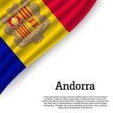 Machać flaga Andorra ilustracji