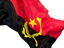 Machać flaga Angola Obraz Royalty Free