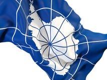Machać flaga Antarctica Zdjęcie Stock