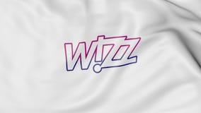Machać flaga Wizz Air redakcyjny 3D rendering ilustracji