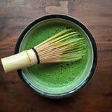 Macha grönt te Fotografering för Bildbyråer