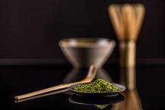 Macha green powder Stock Images