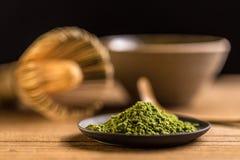 Macha green powder Royalty Free Stock Image